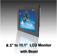 Industrial cnc Monitor, panelmount industrial lcd monitors, panel mount monitor, bezelmount lcd monitors